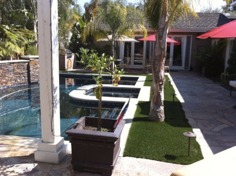 artificial turf used around pools